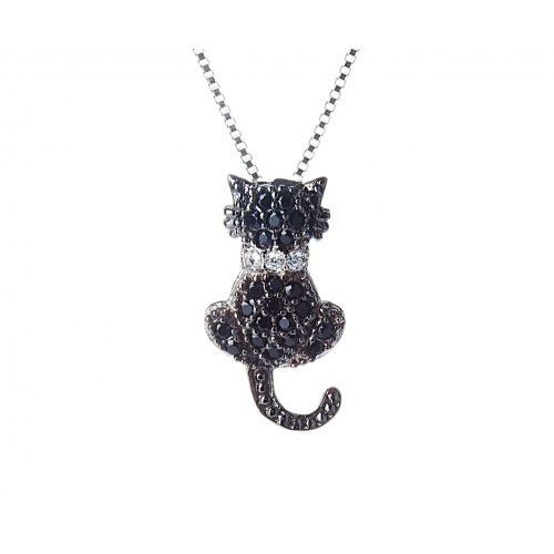 Fekete macska Medál + lánc