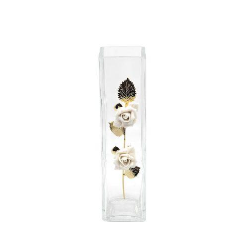GBG - EZÜSTÖZÖTT DEKOR - Virág váza 20 cm