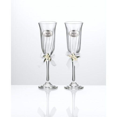 Valenti ezüstözött dekor - pohár