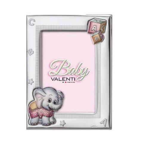 Valenti-ezüstözött gyermek képkeret  9x13 cm
